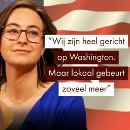 Afleveringplaatje van Laila Frank over de staat van de VS (Amerika-journalist)
