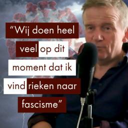Afleveringplaatje van René ten Bos over de Coronastorm (hoe een virus ons verstand wegvaagde)
