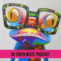 Afleveringplaatje van #1 De Eigen Wijze Podcast met Thea Jurina Dijkstra over verbinding.
