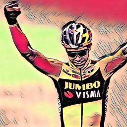 Afleveringplaatje van Etappe 5: Wout van Aert wint de sprint in Privas
