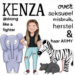 Afleveringplaatje van S02E01 Kenza (@Stronglikeafighter) over seksueel misbruik, ptss & herstel