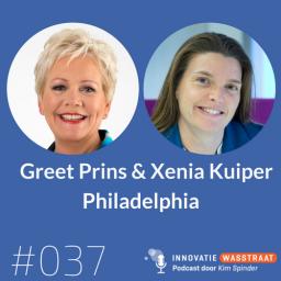 Afleveringplaatje van #037 Greet Prins en Xenia Kuiper, Philadelphia - Hoe een robot kan bijdragen aan zelfredzaamheid in de zorg