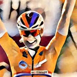 Afleveringplaatje van Van der Breggen & Alaphilippe worden Wereldkampioen op Imola