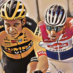 Afleveringplaatje van Mathieu van der Poel wint De Ronde - en Wilco ligt op koers voor roze (🇳🇱)