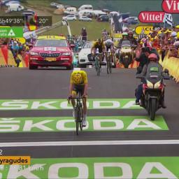Afleveringplaatje van Etappe 12: Bardet de etappe, Aru het geel