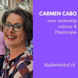 Afleveringplaatje van Waar komt bij Carmen Cabo de interesse voor filantropie vandaan, en waarom  verruilde ze het onderwijs voor de museumwereld? (deel 1)