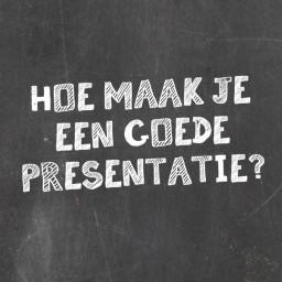 Afleveringplaatje van | Hoe maak je een goede presentatie?