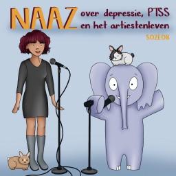 Afleveringplaatje van S02E08 Naaz over depressies, secundaire trauma's en de druk van het artiestenleven