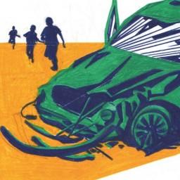 Afleveringplaatje van Jurgen, de grafrover op het autokerkhof