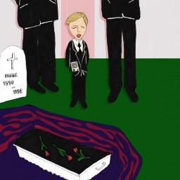 Afleveringplaatje van Pieter, het kleine begrafeniszangertje