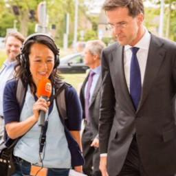 Afleveringplaatje van Mischa Blok en het risico met Ivo Opstelten's haargel