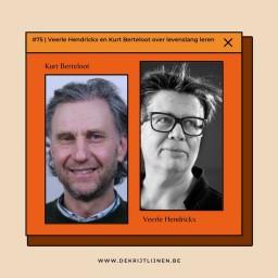 Afleveringplaatje van #75   Veerle Hendrickx en Kurt Berteloot over levenslang leren