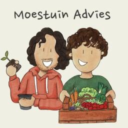 Logo van Moestuin Advies de Podcast